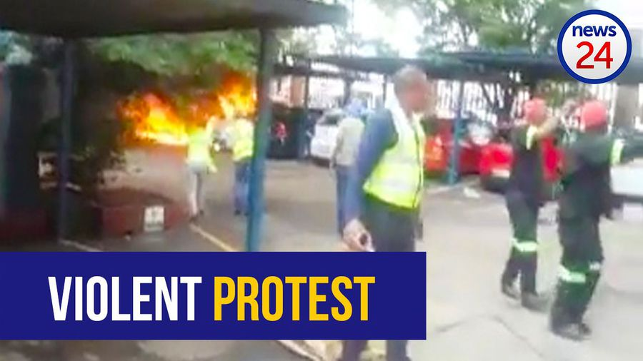 Employees' cars set alight at Germiston plastics factory as violent protests continue