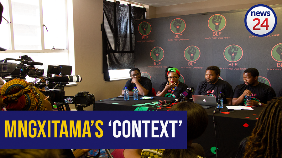 """WATCH: Andile Mngxitama provides 'context' to """"kill white people"""" statement"""