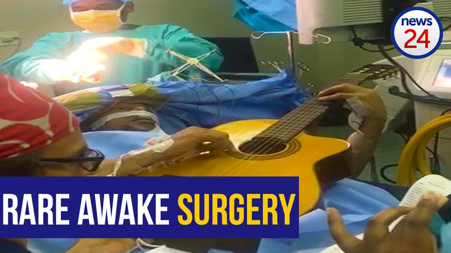 WATCH: The moment jazz star Musa Manzini plays his guitar during rare awake brain surgery