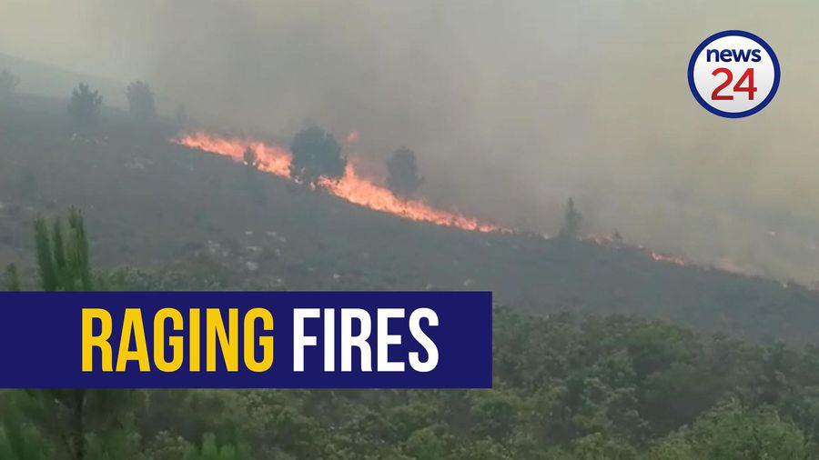 WATCH: Fire rages out of control near Hermanus