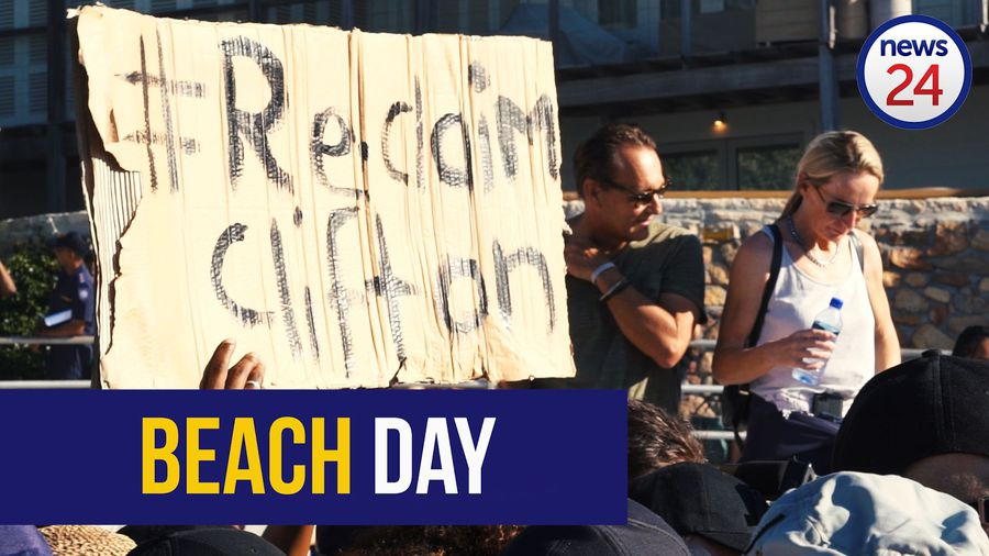 WATCH: Protesters reclaim Clifton beach