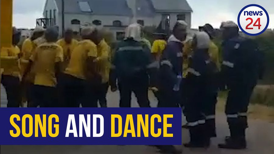 WATCH: Western Cape firefighters end gruelling day with uplifting song