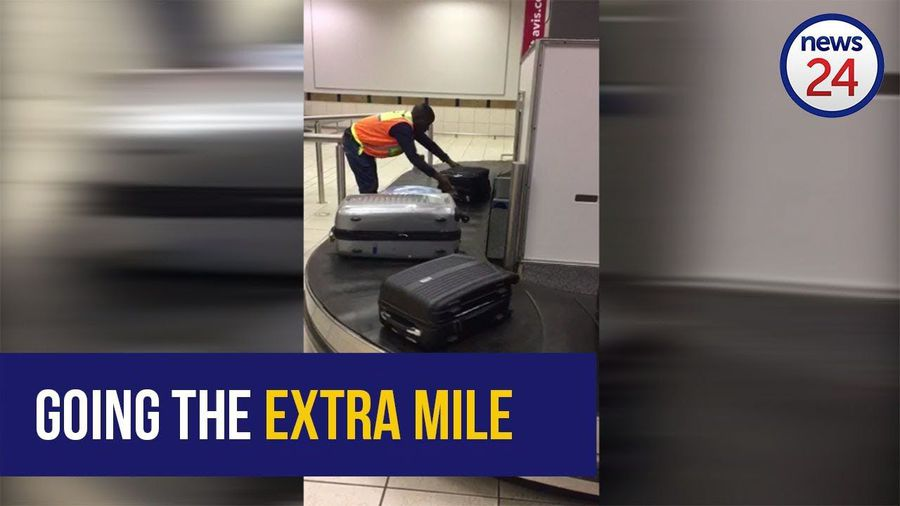 WATCH: Lanseria baggage handler to be rewarded for doing a sterling job at the carousel