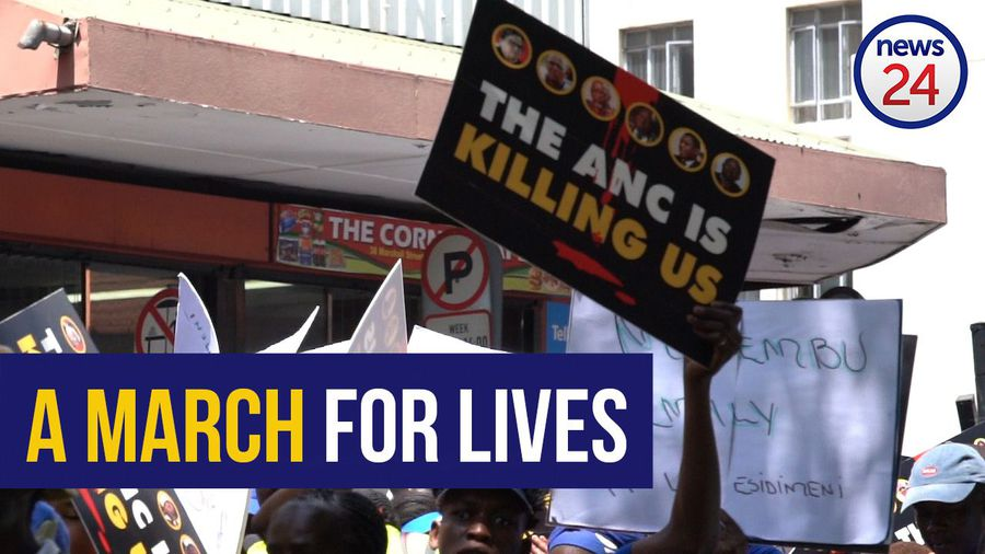 WATCH: 'ANC is killing us' - DA unveils billboard listing names of Marikana, Life Esidimeni victims