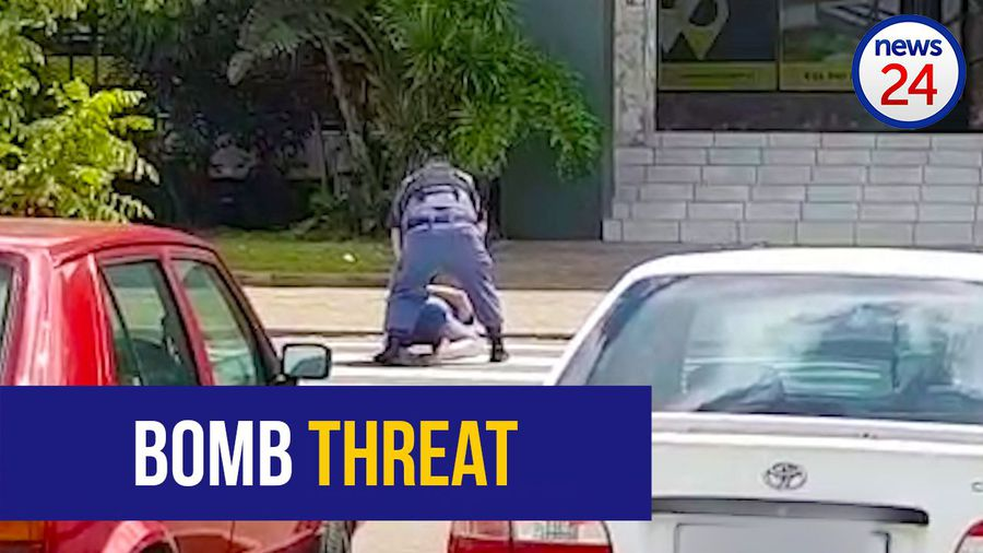 WATCH: Police arrest KZN man who threatened to blow up office workers