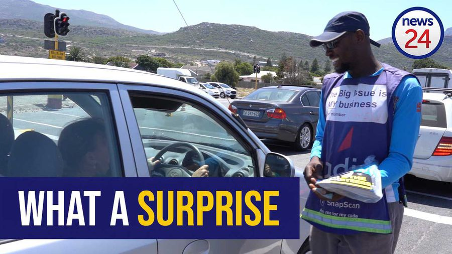 WATCH: Musician Jeremy Olivier gifts friendly newspaper salesman with a car