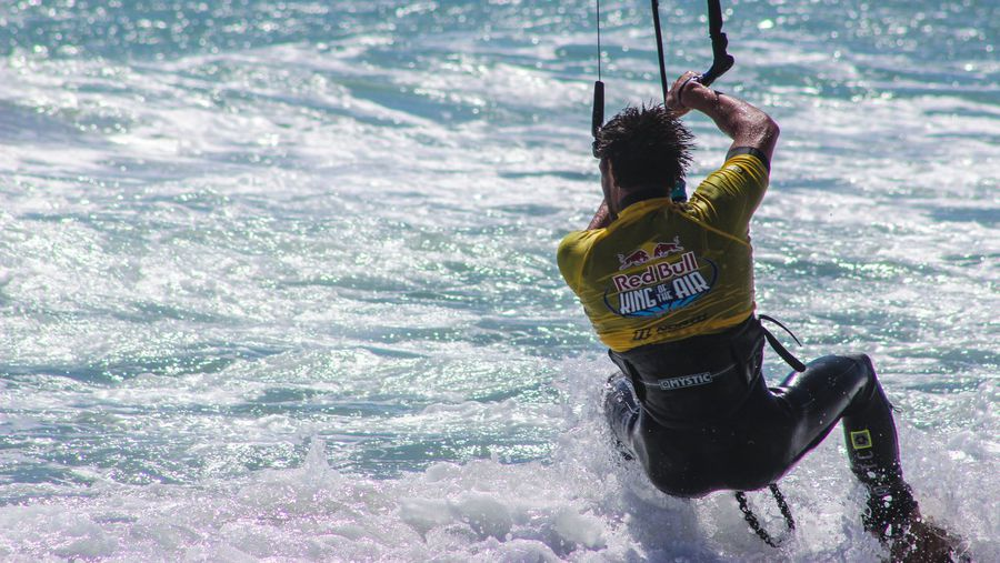 The death-defying megaloops of the world's best kitesurfers at King of the Air in South Africa