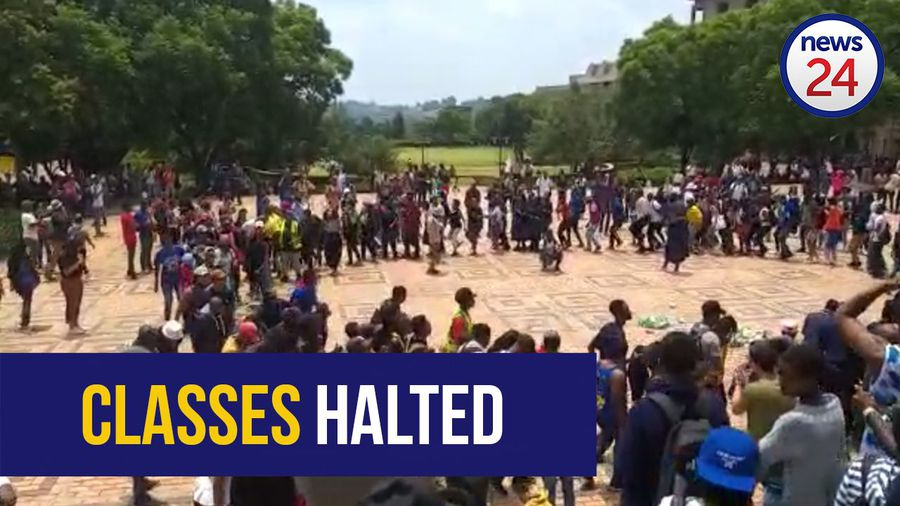 WATCH: Protesting students bring learning to a standstill at Wits