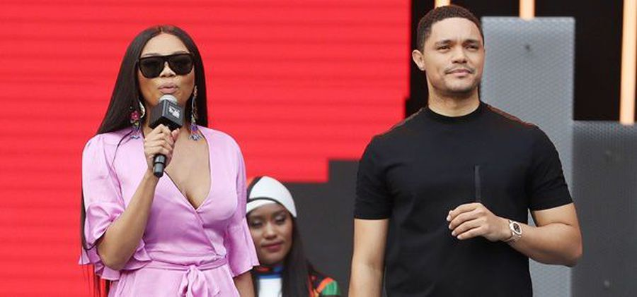 Bonang joins Trevor for fancy birthday cupcakes after a visit to The Daily Show