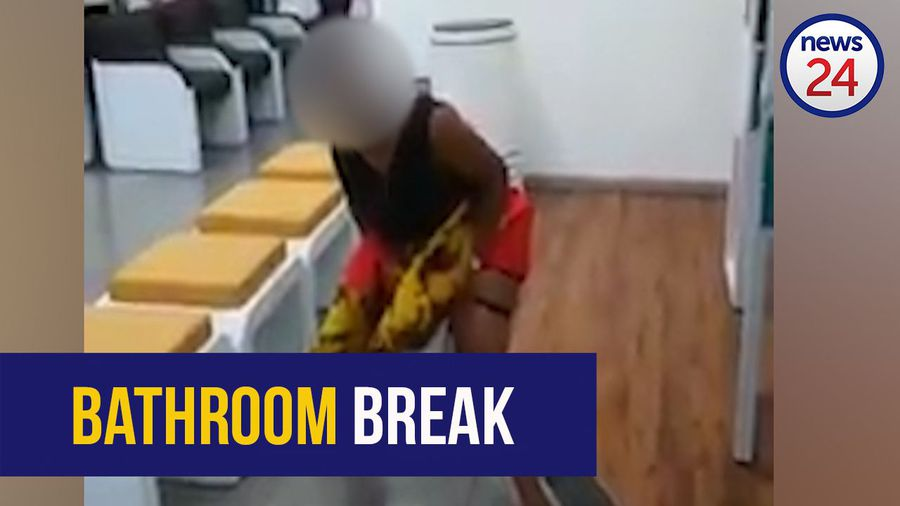 WATCH: 'I am pressed!': woman relieves herself on FNB floor