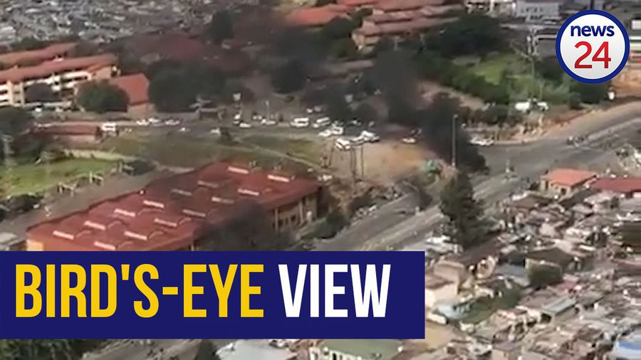 WATCH: Aerial footage of Alexandra protests