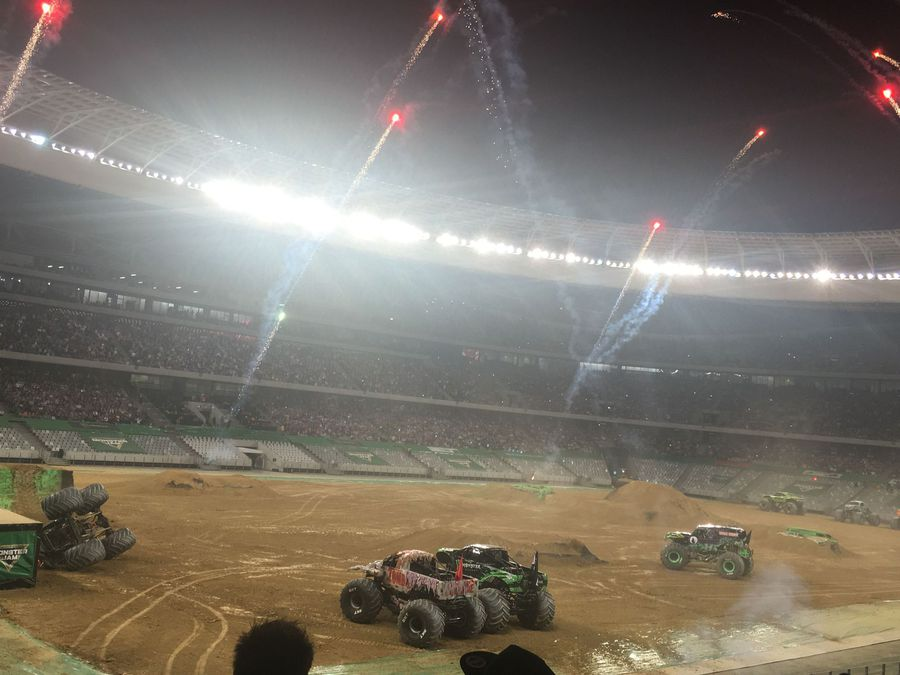 WATCH: Monster Trucks roar as they turn Cape Town Stadium into their playground
