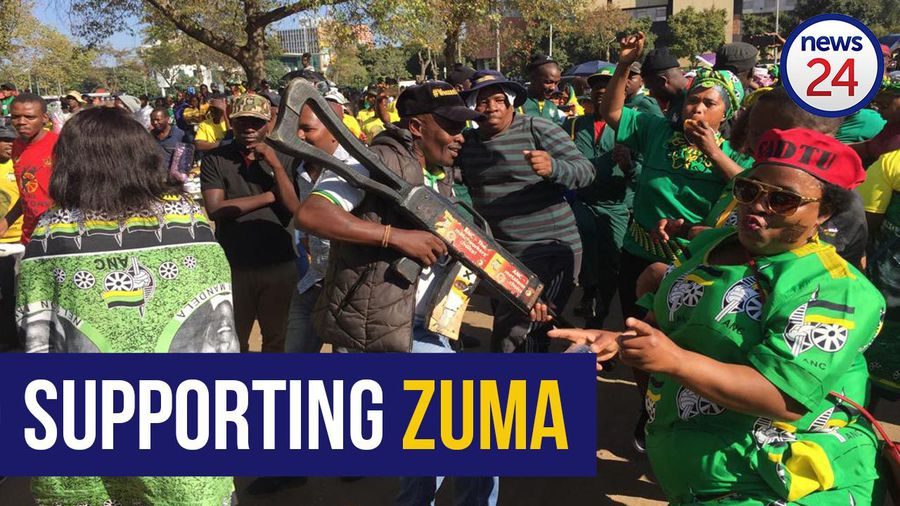 WATCH: Hundreds gather to support Jacob Zuma during court proceedings