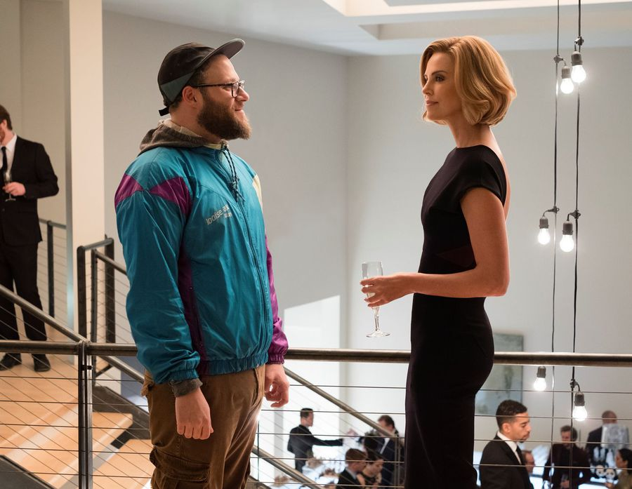 Charlize Theron says working with Canadian sex symbol Seth Rogen was intimidating