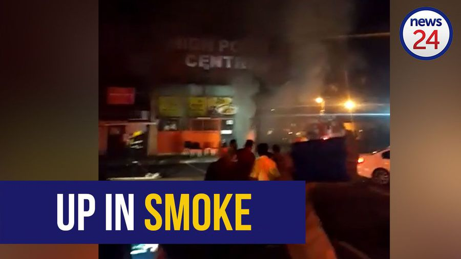 WATCH: Quick-acting firefighters extinguish fire and save local businesses