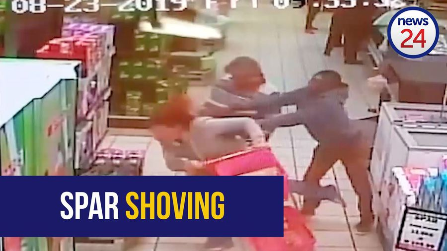 WATCH: Man caught on video shoving woman at Spar in Schweizer-Reneke is mentally disturbed - police