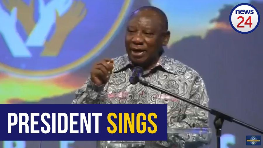 WATCH | Ramaphosa sings: 'If you believe and I believe, Africa will be saved'