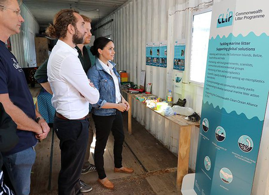 The Duke and Duchess of Sussex visits Waves for Change in South Africa
