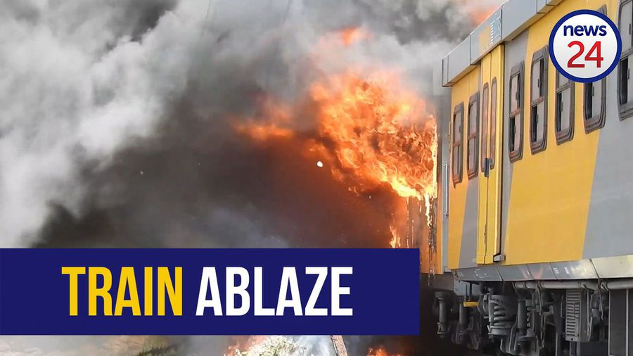 WATCH | Fire destroys train carriages at Glencairn