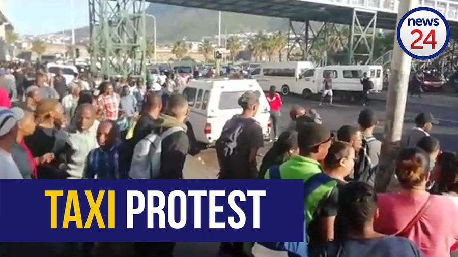 WATCH | Protests erupt at Cape Town taxi rank