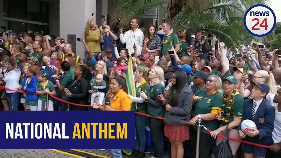 WATCH | Durban supporters welcome Springboks with rousing rendition of national anthem