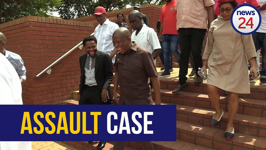 WATCH | Malema denies he and Ndlozi assaulted a police officer during Mama Winnie's funeral