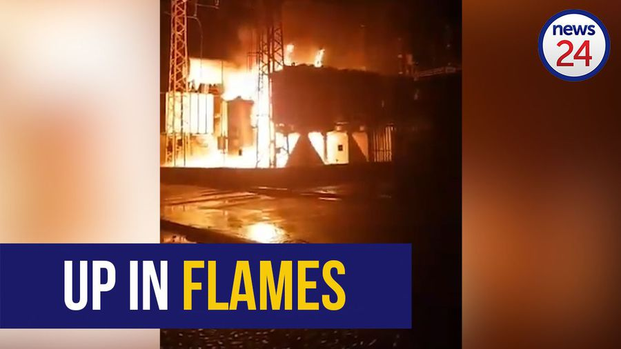 WATCH | Emergency services battling fire at Pretoria substation