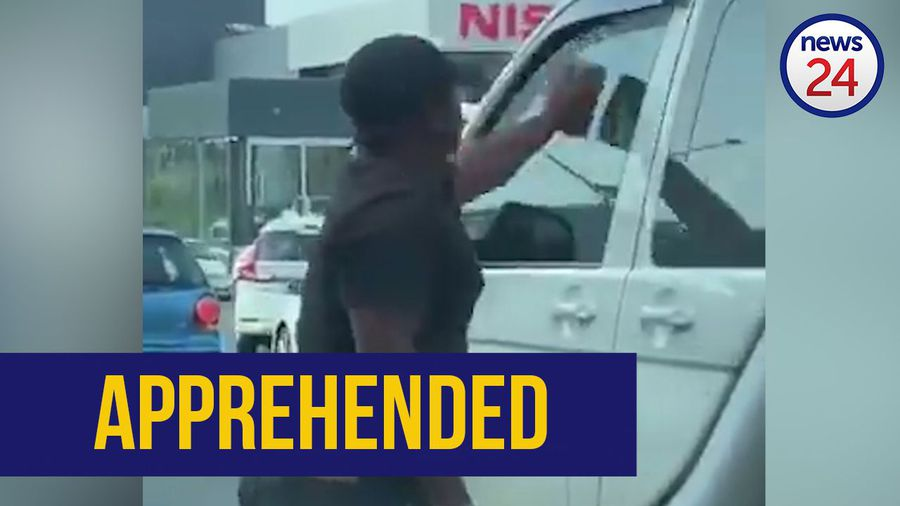 WATCH | Man who threw rock at taxi found hours after social media post