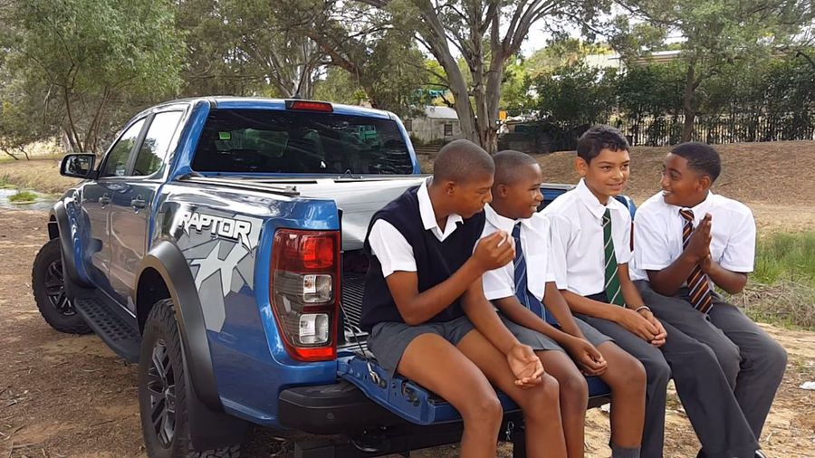 These four boys review the Ford Ranger Raptor