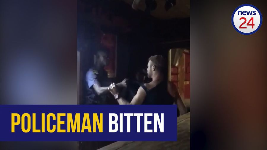 WATCH | Barman's 'bite on cop's finger, drawing of knife' lands him behind bars