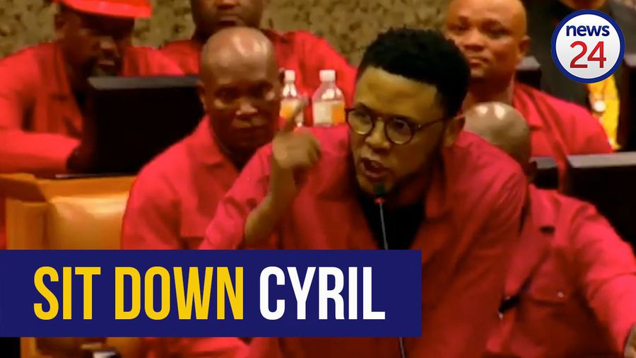WATCH   EFF MPs disrupt SONA, request Pravin Gordhan be removed from parliament