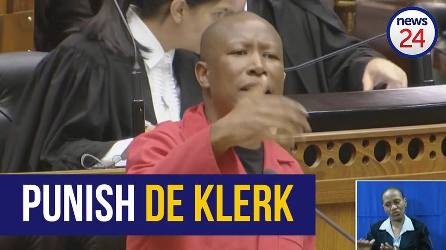 WATCH   'Punish De Klerk' then white supremacists might learn there are consequences - Malema