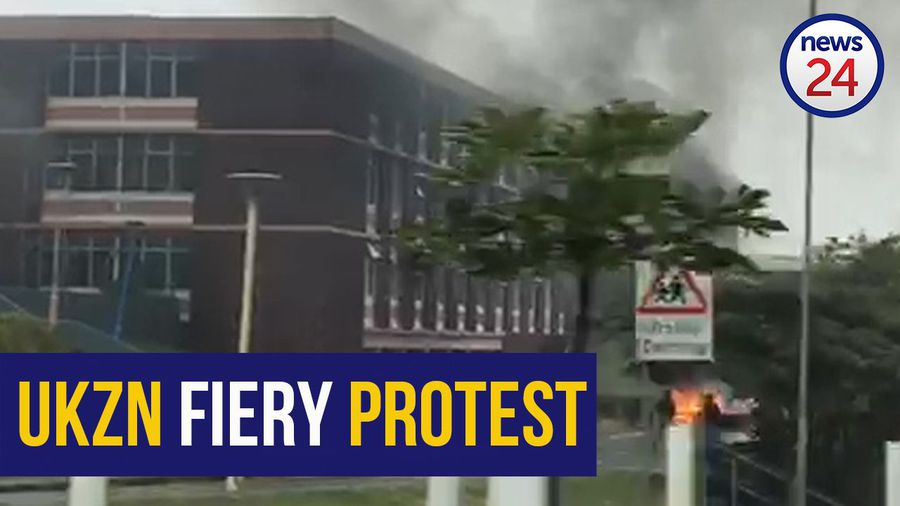 WATCH | Varsity gym, mattresses and fridges burnt as student protests erupt at UKZN