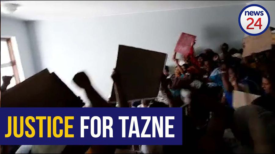 WATCH | Chaos erupts in court as angry protesters demand justice for slain 8-year-old Tazne Van Wyk