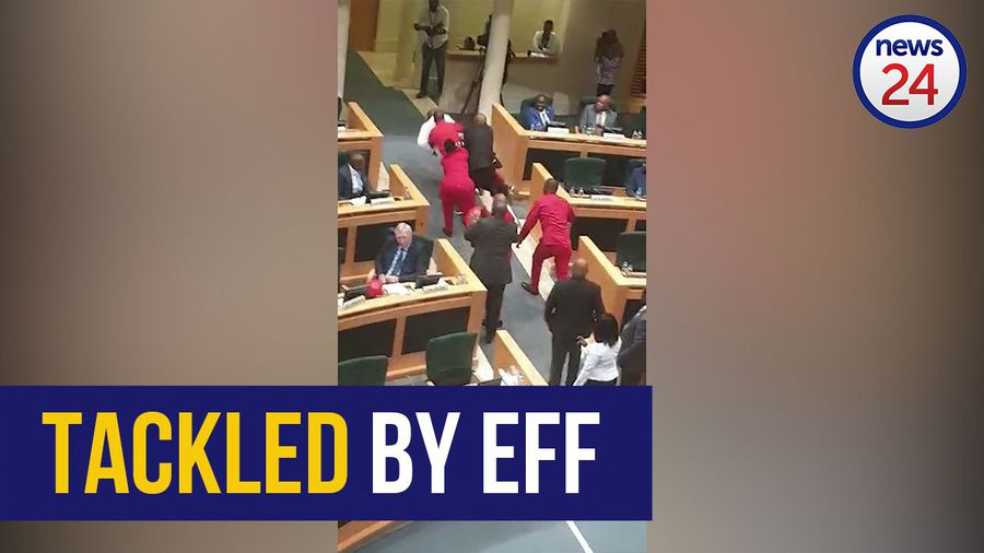 WATCH | EFF member rugby tackles security guard during State of the Province Address