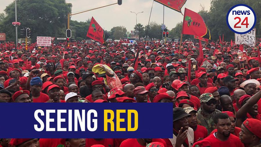 WATCH   EFF members brings Sandton to a standstill as they march to Eskom's Megawatt Park