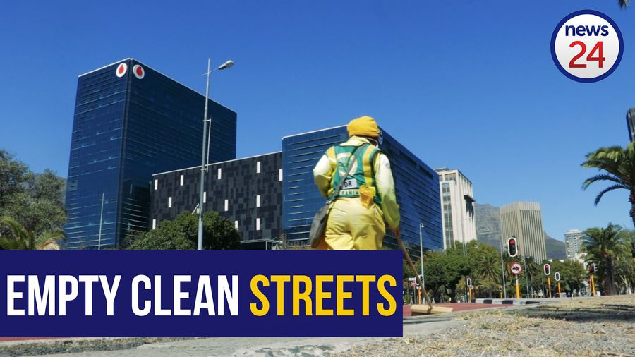 WATCH | Cape Town cleaners keep empty city streets spotless during lockdown