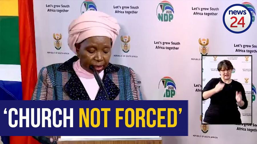 WATCH | 'Nobody is forced to go to church' - Nkosazana Dlamini-Zuma on Level 3 regulations