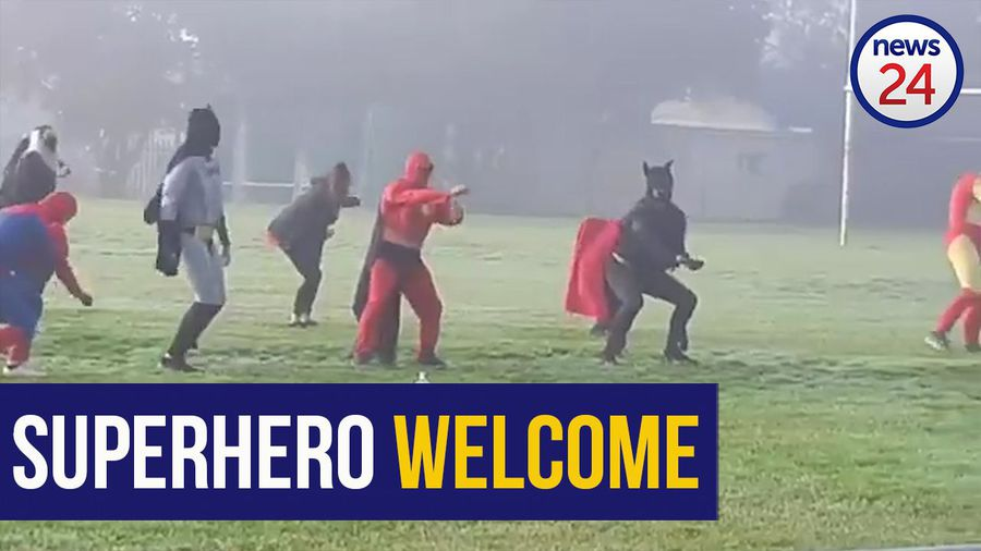 WATCH | Superhero welcome for the grade 7 pupils returning to Table View Primary in Cape Town
