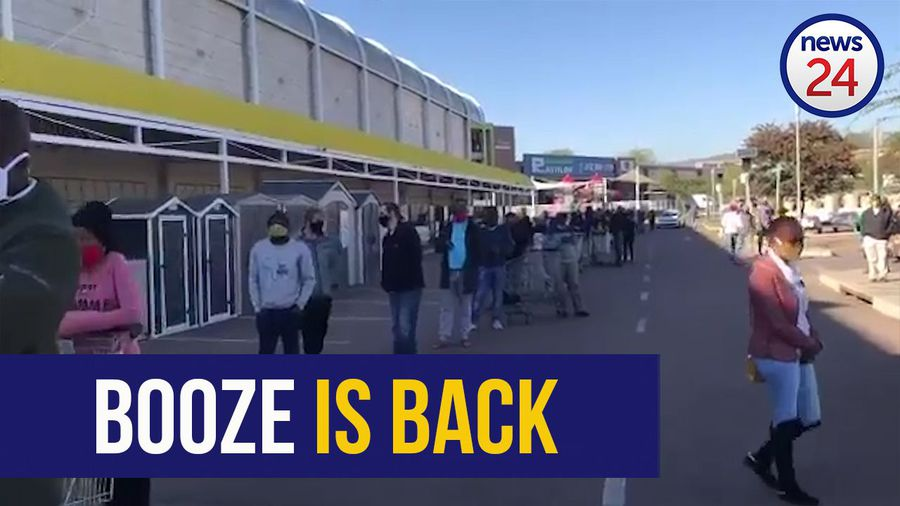 WATCH | Snaking queues and much excitement as liquor stores open for the first time in 2 months