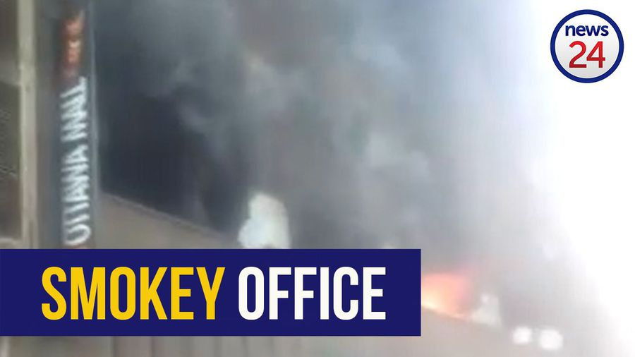 WATCH | One person treated for smoke inhalation after office fire in Joburg CBD