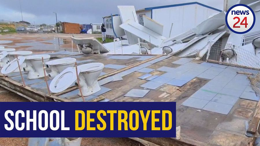 WATCH | School's structures blown over in Strand as storm lashes Cape