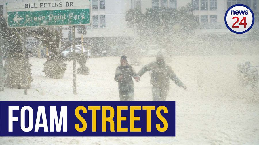 WATCH   Monster winds blow huge puffs of foam off the sea and into Cape Town streets