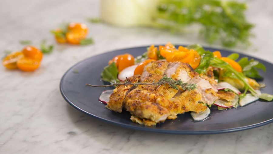 Fertility Plate with Orange and Thyme Crumbed Chicken