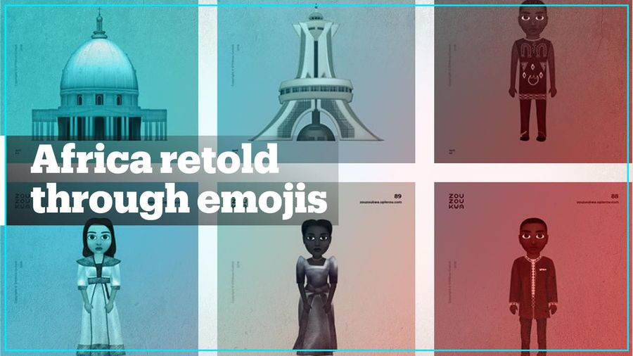 An Ivorian student is retelling African stories through emojis