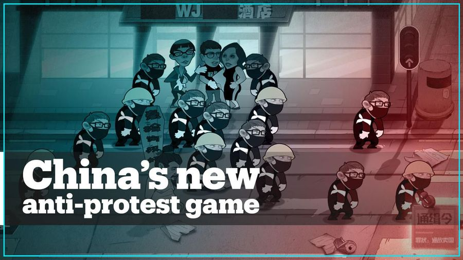 Chinese web game lets you beat and arrest Hong Kong activists