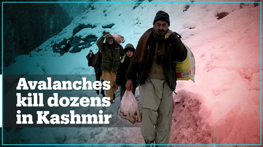 Dozens killed by avalanches in Pakistan-administered Kashmir