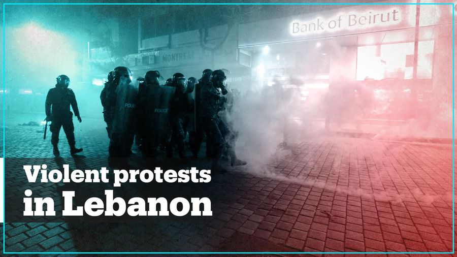 Dozens wounded as police and protesters clash in Lebanon