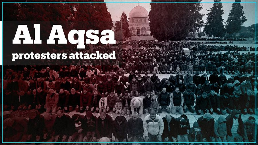 Israeli forces attack Palestinian protesters at Al Aqsa