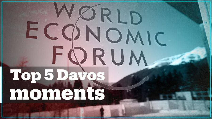 5 historic moments from the World Economic Forum in Davos
